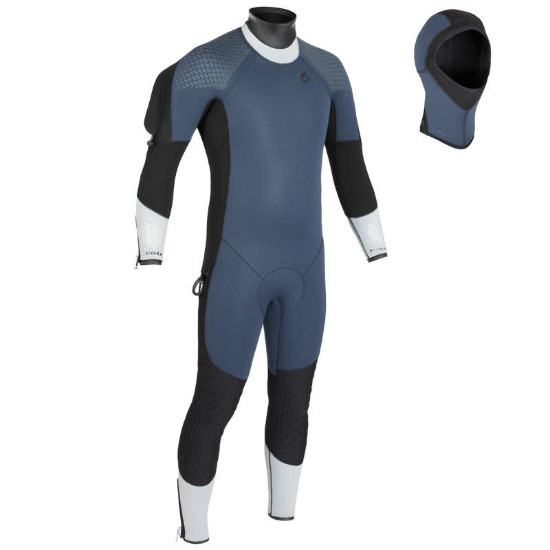 MUTE SCD 10°-18° Sport Acquatici - Muta semistagna 7 mm 500 uomo SUBEA - Protezione termica