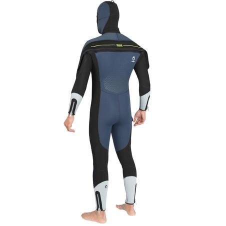 Men's neoprene semi-dry SCD diving suit 500 7mm for cold water