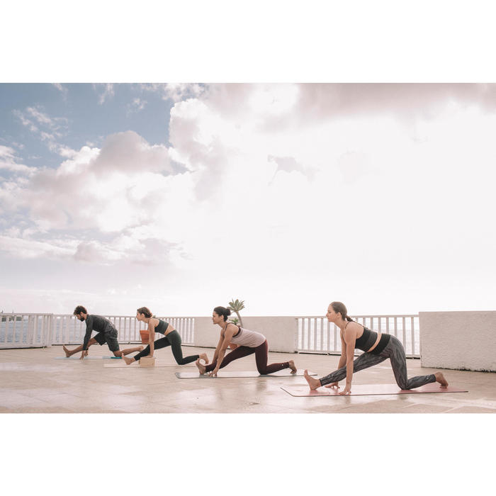 Leggings zum Wenden Yoga Damen schwarz/weiß