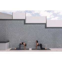 Lange naadloze behatop voor dynamische yoga zwart / zilver