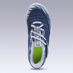 Zaalvoetbalschoenen kind ESKUDO 500 blauw/grijs