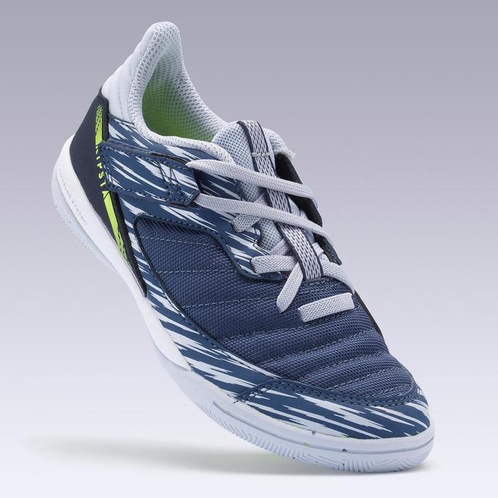 Zaalvoetbalschoenen kid ESKUDO 500 blauw/grijs