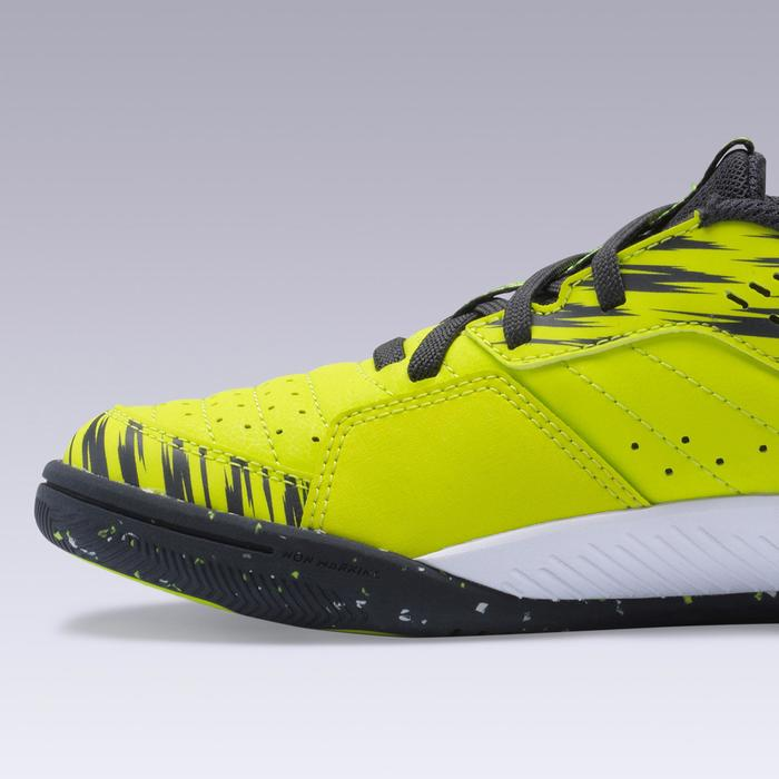 Zaalvoetbalschoenen kind Eskudo 500 klittenband geel