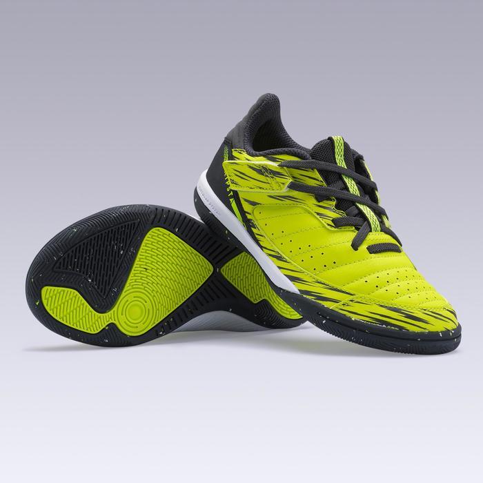 兒童硬地足球鞋 ESKUDO 500 黃色
