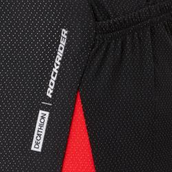 MTB-shirt met korte mouwen ST 500 zwart en rood voor heren