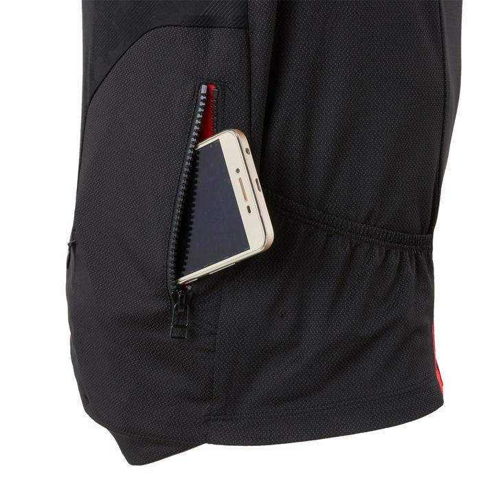 Kurzarm-Radtrikot MTB ST500 Herren schwarz/rot