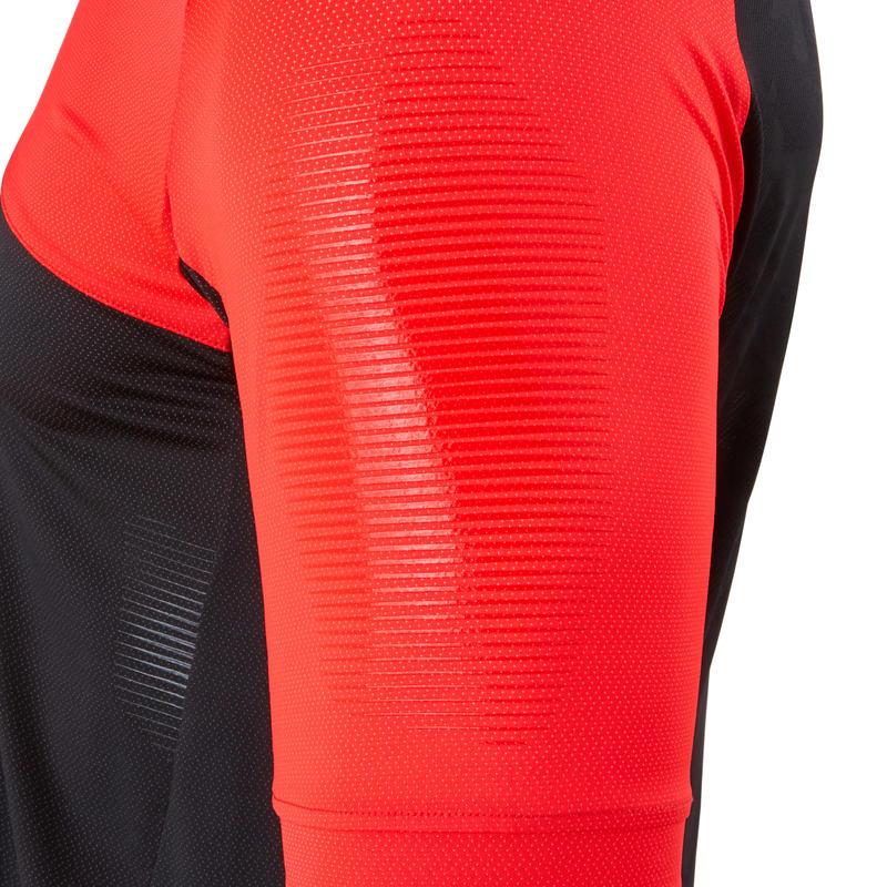 Short-Sleeved Mountain Bike Jersey ST 500 - Black/Red