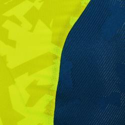 Kurzarm-Radtrikot MTB ST500 Herren blau/gelb