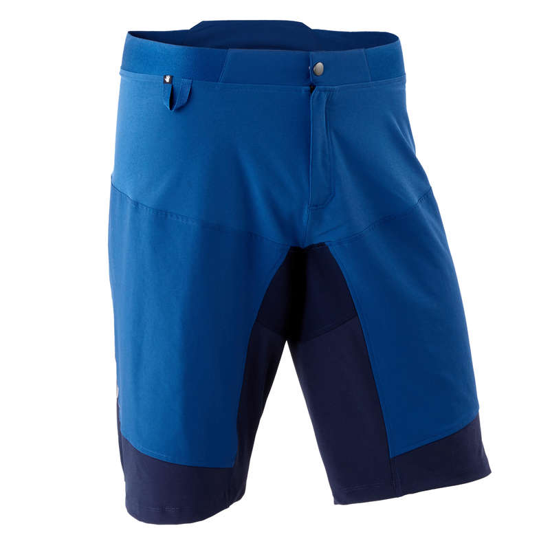 MEN WARM WEATHER ST MTB APPAREL Cycling - ST500 Padded Mountain Bike Shorts - Blue ROCKRIDER - Cycling