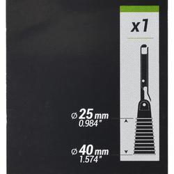 Bung 25/40 mm met vast rekje en extractor van 25 cm