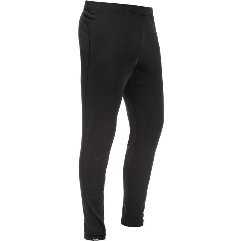 กางเกงตัวในผู้ชายเพื่อการเล่นสกีรุ่น 100 (สีดำ)