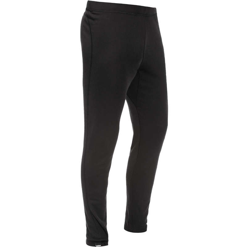 MEN SKI BASELAYER & PULL Skiing - Simple Warm Men's Trousers - Black WEDZE - Ski Wear