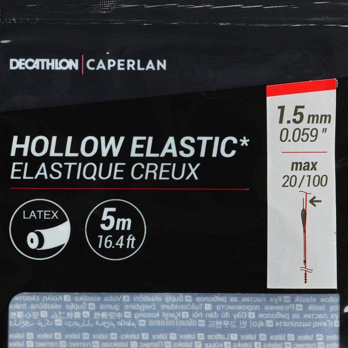 Gummizug hohl Stippfischen Latex PF-PA HE 1,5 mm 5 m