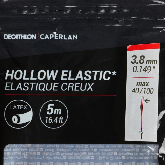 Gummizug hohl 3,8mm 5m Stippangeln auf Karpfen