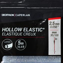 Gummizug hohl 2,5mm 5m Stippangeln auf Karpfen