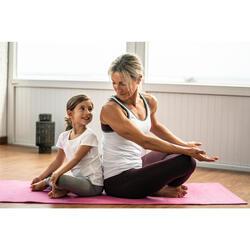 Naadloze damestop dynamische yoga wit