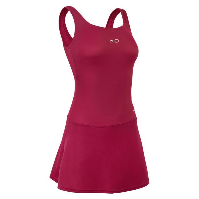 女款單件式連身裙泳裝Heva - 紫色