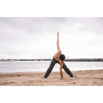 Broek voor zachte yoga heren grijs