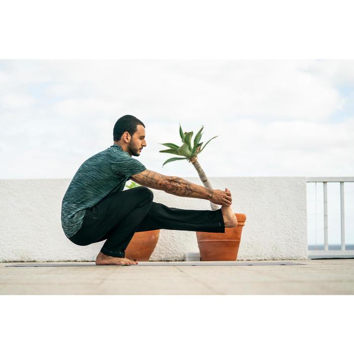 T-Shirt Yoga nahtlos Herren grün meliert