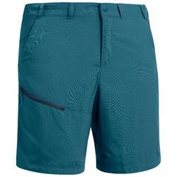 Pantalón corto de senderismo montaña MH100 hombre azul claro