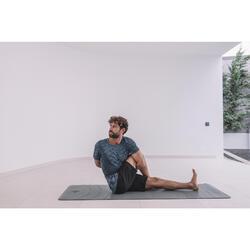 Seamless Short-Sleeved Dynamic Yoga T-Shirt - Grey/Mottled Blue
