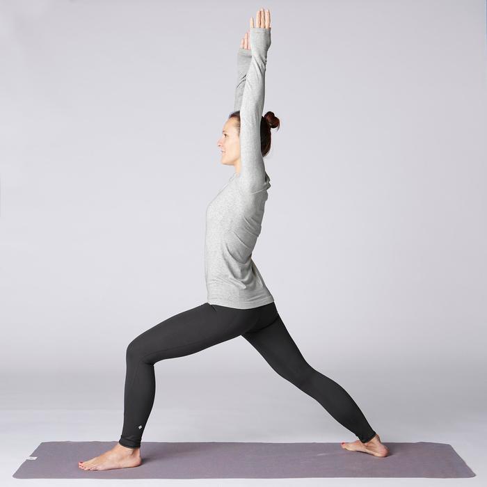 Naadloos herenshirt met lange mouwen voor zachte yoga lichtgrijs