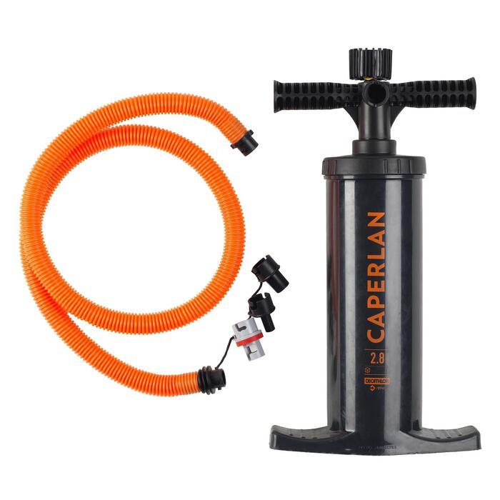 Luftpumpe Handpumpe Float Tube FLTB Pomp 2 × 1,4l mit Manometer