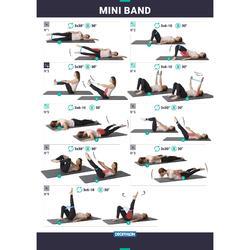 MINI BANDES ELASTIQUES 100 PILATES X3