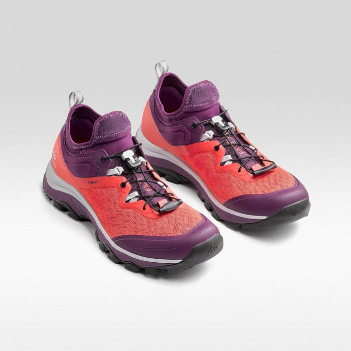 Schoenen voor fast hiking FH500 dames rood pruim