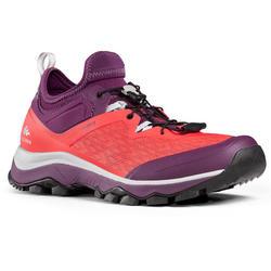 Zapatillas de senderismo rápido FH500 mujer rojo ciruela