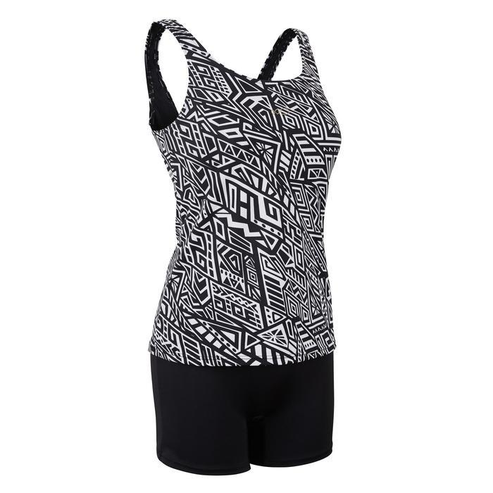 Loran Women's One-Piece Tankini Swimsuit Mao Black