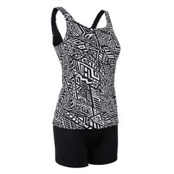 Women's Swimming One-Piece Tankini Swimsuit Heva - Mao Black
