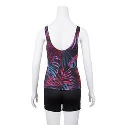 Bañador Completo Camiseta Natación Piscina Nabaiji Mujer Pantalón Corto Neon