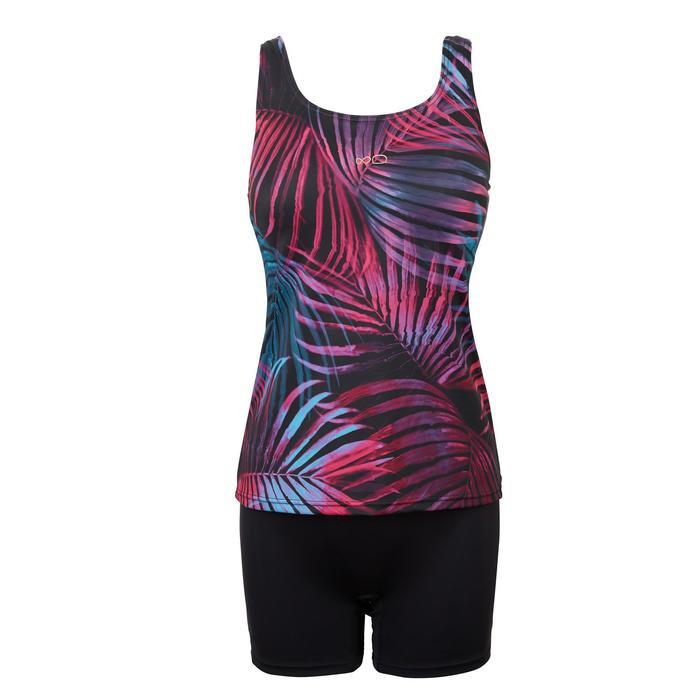 Loran Women's One-Piece Tankini Swimsuit - Ond Black