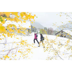 Botas de senderismo nieve mujer SH100 warm mid negro