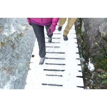 Pantalón de senderismo nieve mujer SH100 ultra-warm gris-azul