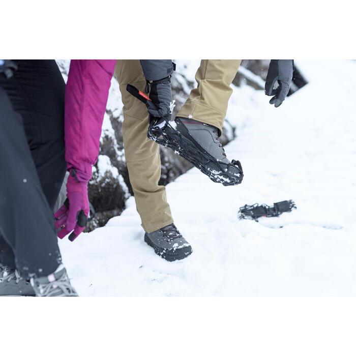 Winterstiefel Winterwandern SH100 Warm wasserdicht Herren schwarz