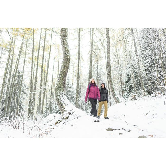 Heren wandeljas voor de sneeuw SH100 X-warm wijnrood