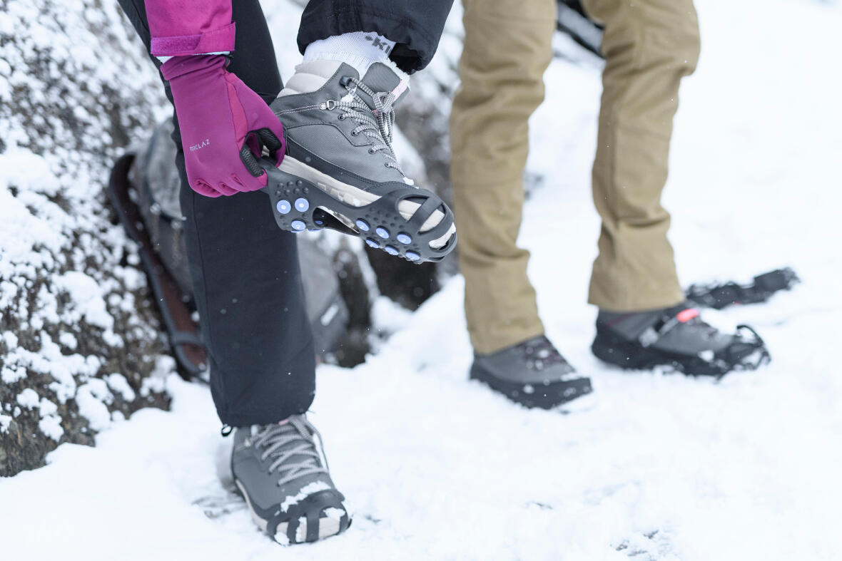randonnée neige anti glisse