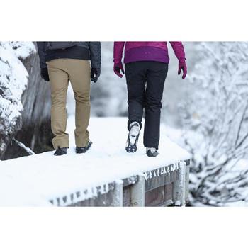 雪地健行防滑鞋套SH100-黑色