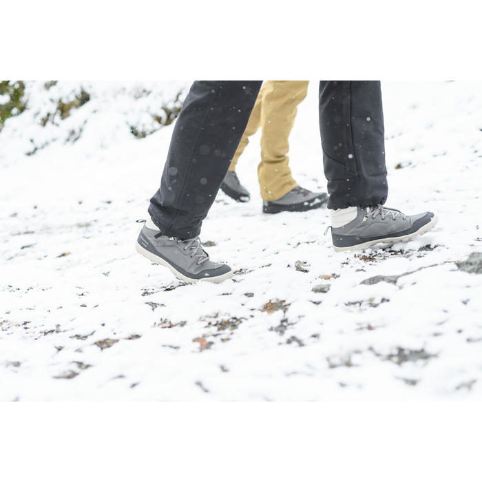 Winterschuhe Winterwandern SH100 Warm wasserdicht Damen khaki