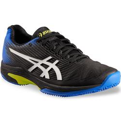 ZAPATILLAS DE TENIS HOMBRE GEL-SOLUTION SPEED 3 NEGRO AZUL TIERRA BATIDA