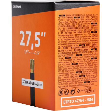 27.5x1.9-2.5 Bike Inner Tube - Schrader