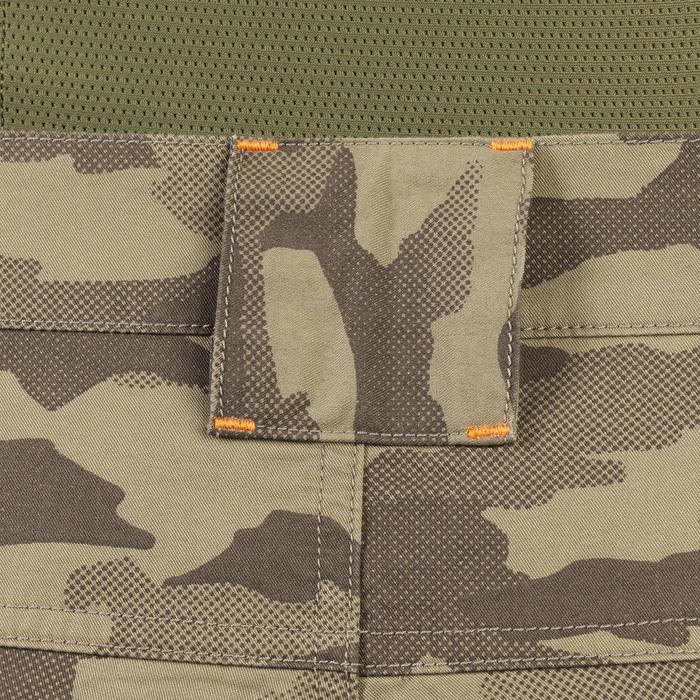 Pantalón Caza Solognac SG 100 Camuflaje Island Verde Ligero