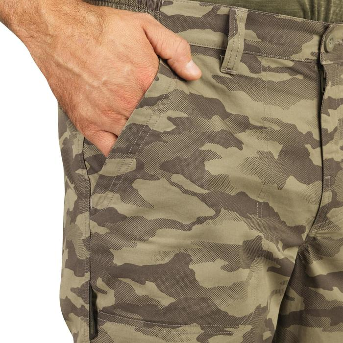 Pantalon léger chasse 100 camouflage island vert