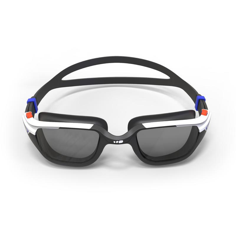 แว่นตาว่ายน้ำชนิดเลนส์ Smoke รุ่น SPIRIT 500 ขนาด L (สีส้ม/น้ำเงิน)