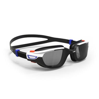 משקפי שחייה SPIRIT 500, מידה L כתום כחול, עדשות ערפל