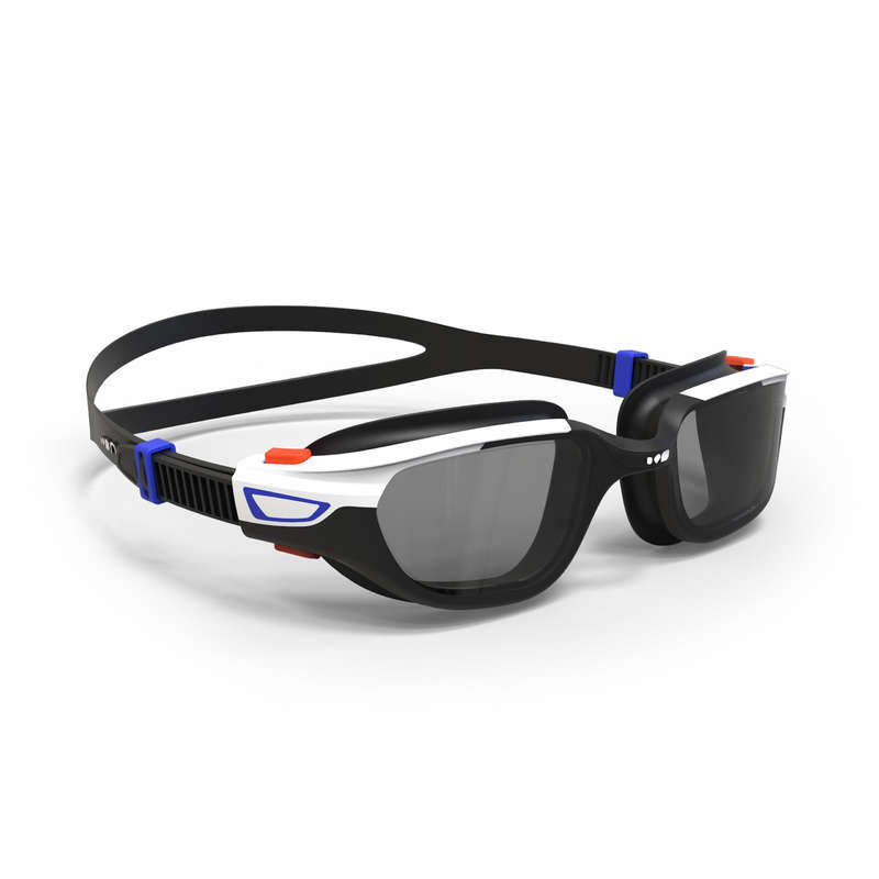 SWIMMING GOGGLES OR MASKS Swimming - GOGGLES SPIRIT L ORANGE BLUE NABAIJI - Swimming Accessories