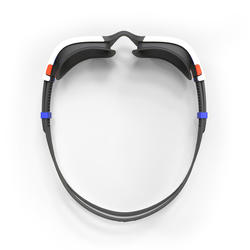 500 SPIRIT Swimming Goggles, Size L Orange Blue, Smoke Lenses