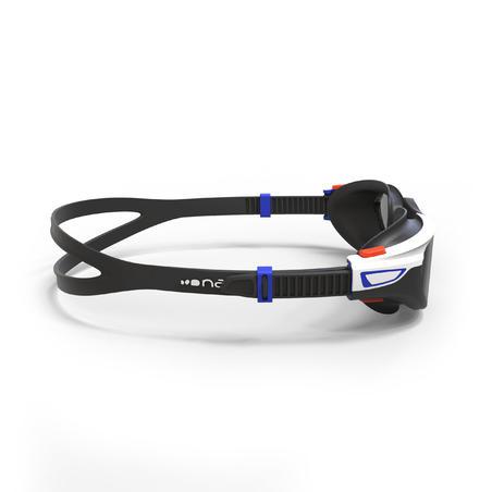 SPIRIT 500 Size L Swimming Goggles Orange Blue Smoke Lenses